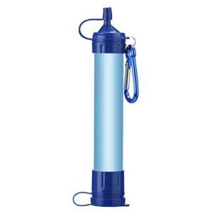 Wankd Filtre à Eau d'urgence, Filtre à Eau portatif Filtre à épurateur de Paille Filtre de Secours Paille de Filtration d'eau Potable pour Le Camping en Plein air Randonnée Filtrer à 0,01 microns
