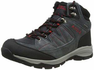 Aigle Vedur Mid MTD, Chaussures de Randonnée Hautes Homme, Gris (Midgrey/Rouge 001), 43 EU