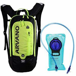 Arvano 6l Sac à Dos VTT, Sac à Dos d'hydratation avec 2l Poche à Eau, Sac à Dos de Vélo Respirant et Léger, pour Course, Cyclisme, Randonnée, Running et des Sport de Plein Air (Vert)