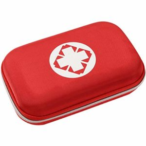 Bestice First Aid Bag, Small First Aid Bag Red First Aid Bag Small Portable Medicine Outdoor Travel Rescue Bag Pouch Tote First Responder for Camping Hiking Trekking Sport Home Health Car