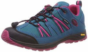 Brütting Ohio Low, Chaussures de Randonnée Basses Fille, Turquoise (Türkis/Pink), 35 EU