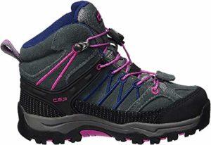 CMP Rigel Mid WP, Chaussures de Randonnée Hautes Mixte, Gris (Grey-Hot Pink), 28 EU