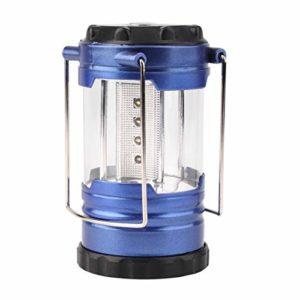 Heaviesk Camping Lantern Light Ultra Lumineux Etanche Antichoc Économie De Puissance Télescopique Camping Lantern Bivouac Randonnée Lumière 12 LED Portable avec Compas