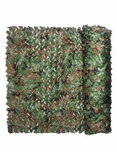 Jungle Camouflage Net Visor Camouflage Camouflage Net, Tente de Couvert de Tente de Camping-car Camouflage Militaire de Montagne Vert Décoration Net Chasse, Différentes Tailles ( Size : 10m×50m )