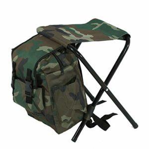 LCZHP Pliable Tabouret, Camping en Plein air Pêche Tabouret, Siège Pratique de Transport avec Sac de Rangement pour Camping Randonnée Chasse Escalade
