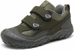 Mishansha Enfant Chaussures de Sport Fille Chaussures de Randonnée Garcon Running Baskets D'été Respirantes Chaussures de Trail Légères Auto-agrippante Vert 31