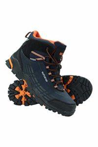 Mountain Warehouse Chaussures Randonnée Enfant Fille Garçon Softshell Semelle Phylon Tige Haute Bleu Canard 36