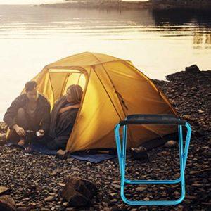 NITRIP Chaise Pliante, Chaise de pêche extérieure en Alliage d'aluminium Tabouret de Camping Tabouret Pliant, Escalade de Barbecue de pêche de Camping