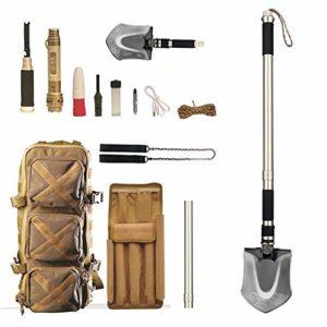 NZBⓇ Pelles de Camping Heavy Duty Outil Pliant Compact pour Les Cadeaux de Voiture Hors Route, de Camping, de Plein air, de Survie et d'urgence