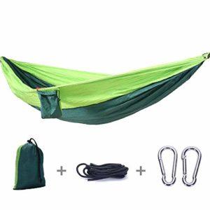 QqHAO Ultraléger Ombrelle Camping, Nylon Double hamac Camping léger et Portable pour Voyage, Randonnée, Dormir, Plage et Jardin,2