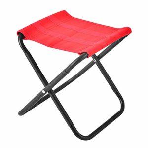 Tabouret pliant portable, tabouret pliant portable barbecue, tabouret en aluminium portable pliable en plein air peut être utilisé pour le camping, la pêche, la flexion, les voyages et l'escalade.