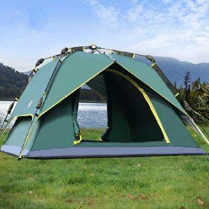 Tente 3-4 Personnes 230 * 230 * 145cm Tentes de Camping Étanche Automatique Double Couches Randonnée Tentes d'escalade en Plein Air avec Sacs De Transport en Ligne