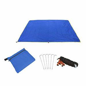 Warooma Hamac imperméable léger 1,5 x 2,2 m pour Camping, randonnée, Pique-Nique 1.5mx2.2m Bleu