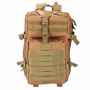 Zclleiyi Sacs à Dos Tactic Assault Sacs à Dos 40L 900D Multi-Function Sac à Dos for Le Camping en Plein air Trekking Chasse Pêche (Color : Brown, Size : L)