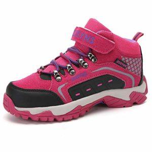 ZOSYNS Chaussures de Randonnée Enfant Chaussures Trekking Filles Bottes et Boots pour Marche et Trekking Enfant Chaussures de Sport Multisports Outdoor Baskets Running Chaussures Filles Rose 31