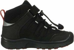 KEEN HIKEPORT Mid, IMPERMÉABLE, Chaussures de Randonnée Hautes Mixte Enfant, Noir (Black/Bright Red 002), 37 EU