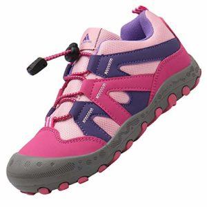 Mishansha Chaussures Enfant Léger Chaussure de Marche Fille Antidérapant Ete Baskets Randonnée Enfants Durable Rose 25 EU