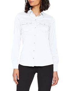 Marmot Wm's Annika Long Sleeve T-Shirt Manche Longue, Chemise de randonnée, avec Protection UV, Respirante Femme White FR : XS (Taille Fabricant : XS)