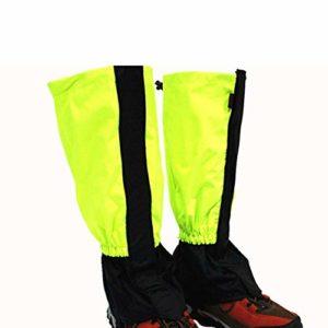 MiaZhou Extérieur Leggings, Imperméable Snowproof Anti-mud vers Leggings Jambe Jeux Randonnée Camping Ski – Jaune, M