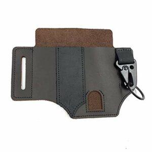 Abimy Sac de rangement pour ceinture en cuir Multioutil pour le camping