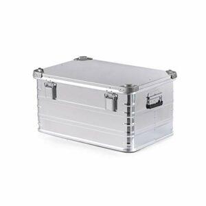 AIHOUSE Boîte De Rangement, 30L / 50L en Alliage d'aluminium Portable Grande Capacité de Stockage Sac, pour Le Camping Voyage Équipement de Pique-Nique,Medium