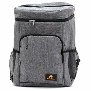 CampFeuer Sac à dos isotherme 30 litres   Grand sac à dos réfrigérant   Imperméable   Idéal pour le barbecue, le camping, les pique-niques, la randonnée, le travail