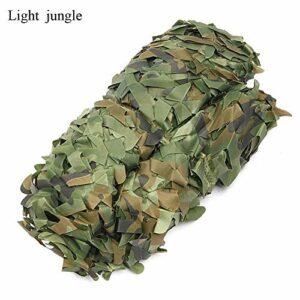 Eilun Filet de camouflage pour camping, chasse et camping, 4 x 2 m, filet de camouflage militaire pour fête, décoration de photographie, Light jungle, 4*2m