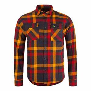 Garphyttan Fixar Carpenter Chemise pour homme en flanelle de coton durable pour l'extérieur, randonnée, trekking, camping – Bleu – Medium