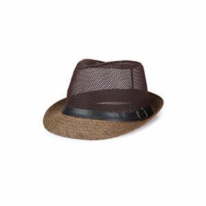 INTER FAST Hommes Respirant Mesh Chapeau Cowboy Été Extérieure Escalade Vélo Chapeau Soleil Ombre UV Chapeau Plage Chapeau