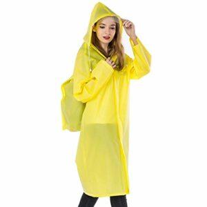 Manteau imperméable Imper Veste Longue for Adultes avec Sac à Dos Position Unisexe extérieur Escalade Pêche Randonnée Protection Pluie Poncho (Color : Yellow, Size : L)