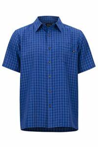 Marmot Eldridge Short Sleeve T-Shirt Manche Courte, Chemise de randonnée, avec Protection UV, Respirant Homme, Surf, FR : S (Taille Fabricant : S)