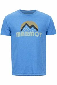 Marmot Pt Reyes Tee Short Sleeve T-Shirt Manche Courte, Chemise de randonnée, idéal pour Le Sport, la Gym, séchage Rapide, Respirant Homme, Royal Heather, FR (Taille Fabricant : XL)