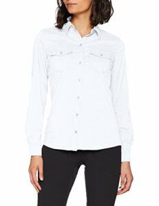 Marmot Wm's Annika Long Sleeve T-Shirt Manche Longue, Chemise de randonnée, avec Protection UV, Respirante Femme White FR : M (Taille Fabricant : M)