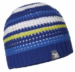 Salewa Climb K Bonnet d'escalade en Crochet pour Enfant L Bleu – Bleu Roi/Rayures