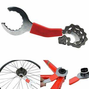 SHUGJAN Réparation de vélos Kits d'outils de vélo de montagne de la chaîne de coupe/chaîne Removel/Support Remover/Démonte roue/Extracteur manivelle Remover Accessoires de bricolage outils de