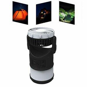 xiaomomo521 Lampes De Camping, Ventilateurs Extérieurs, Lumières De Secours, Répulsifs Contre Les Moustiques, Lampes De Camping Multifonctionnelles pour Tente, LED Étanche (Noir)