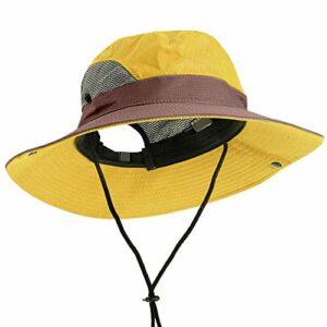 ZHAONAA Turban de Sport Réglable Activités de Plein air Camping Polyester Respirant Pêche Cap Casual Mesh Voyage Chapeau d'escalade Casquette Cyclisme (Color : Yellow)