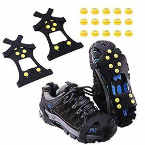 Aomier Crampons antidérapants pour chaussures – Chaînes à neige pour chaussures de montagne, chaussures de montagne, chaussures de randonnée – Taille 30-48