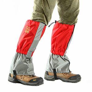 Butterme Couvercle de Chaussures de Pluie/Neige, Outdoor Imperméable à l'épreuve des neiges Randonnée à Pied Gaiters Escalade à la Chasse Neige Legging Patte de Patte Wraps