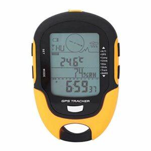 Dr.Taylor Numérique Altimètre, Navigation Récepteur Rechargeable USB Portable Outdoor GPS, Baromètre Thermomètre LCD Vélo Compteur de Vitesse LED Lampe de Poche, Camping Randonnée Escalade