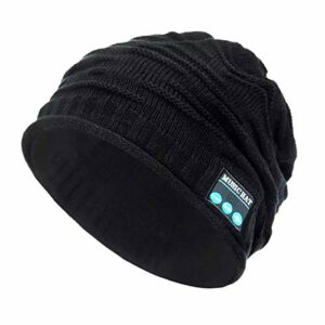 Fashion sans Fil Bluetooth Music Hat Cap Bluetooth Ecouteurs Headphone Headset Haut-Parleur Mic Sport Randonnée Randonnée Chapeaux tricotés