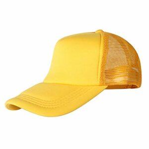 HEXUAN la Nette de Chapeau Chapeau de Soleil l'été volontaires aptes à Casquette des Chapeaux Noirs en Camping randonnée pêche:,Le Jaune