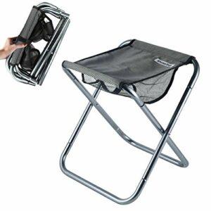 Hodeacc Petit Tabouret Pliant Portable,Mini chaises Pliantes de Camping en Plein air,Tabouret de Camp Pliable léger pour Le Camping,la pêche,Le Pique-Nique,Les Voyages et la randonnée