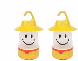 Hothuimin Lot de 2lanternes à LED portables pour enfants (camping, randonnée, pêche, urgence), jaune