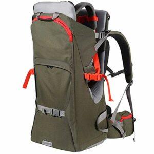 HTTIB Carrier de Sac à Dos bébé Premium for la randonnée avec des Enfants, avec Stand Child Kid Blinda Bouclier (Color : Green)