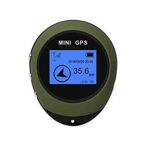 HUBi Mini GPS, USB Portable Rechargeable extérieure Recherche d'un site, Convient for Randonnée/Escalade/Voyager/Exploration Champ (Color : Black)