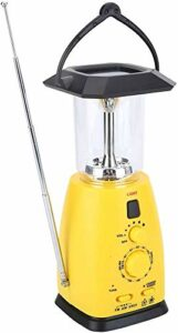 Lampe de Camping à LED, Lampe Portable Multifonctions, Lampe de Secours Solaire, 8 LED avec Fonction Radio, 4 Modes D'alimentation, 55-60LM, pour Secours en Extérieur, Secours Contre le Séisme