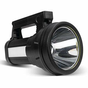 Lampe Torche LED Rechargeable Étanche IPX4, 3 En 1 Ultra Puissante 10800mAH/15000 Lumens, Lampe Camping Portable, Lampe de Poche Rechargeable pour Randonnée Camping – Ceinture et Chargeur Fournis