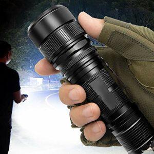Lampe torche tactique LED rechargeable haute puissance avec batterie 26650 pour camping et équitation