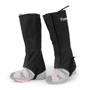 Lepeuxi Coupe-Vent Jambières Anti-Larmes Neige Botte Chaussures Guêtres Haute Neige Jambe Couverture en Plein Air Randonnée Randonnée Marche Chasse Escalade Legging Guêtres